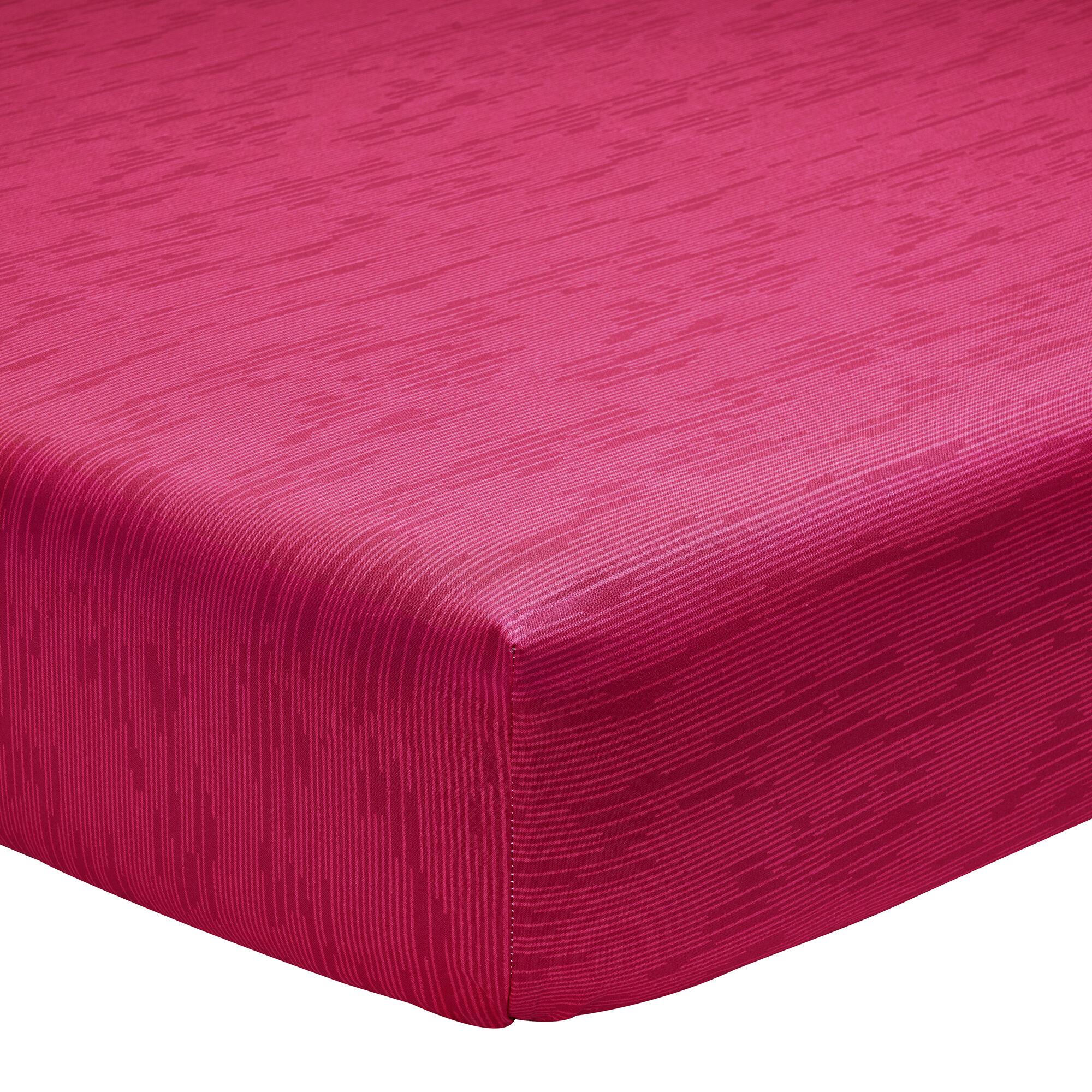 Origin Drap housse imprimé en lyocell rouge 140x190