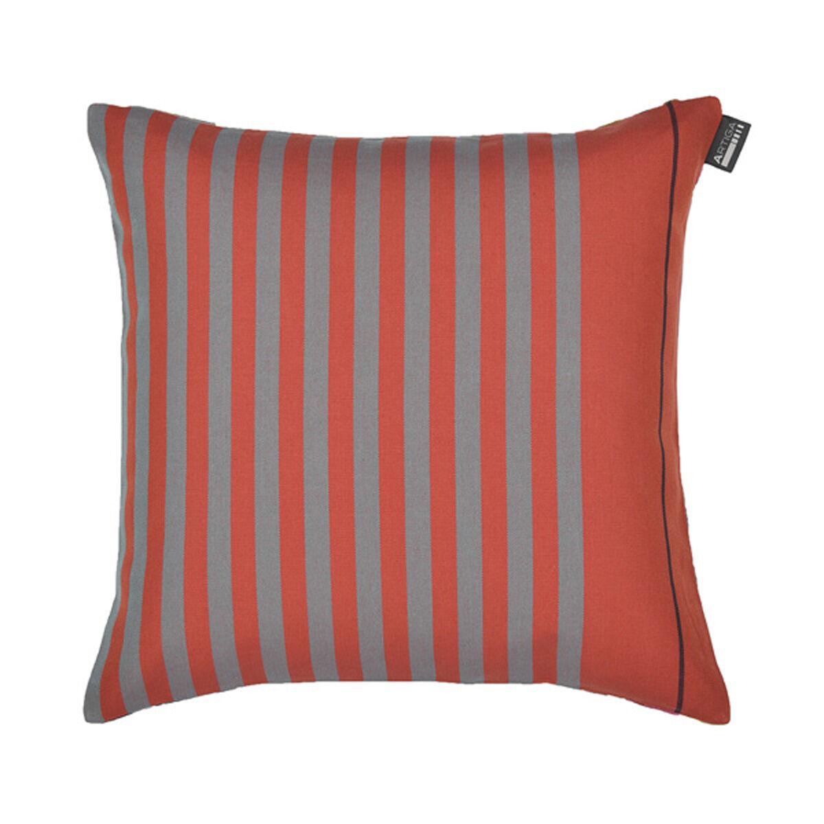 Artiga Coussin carré en coton rouge fleurs 40x40 cm