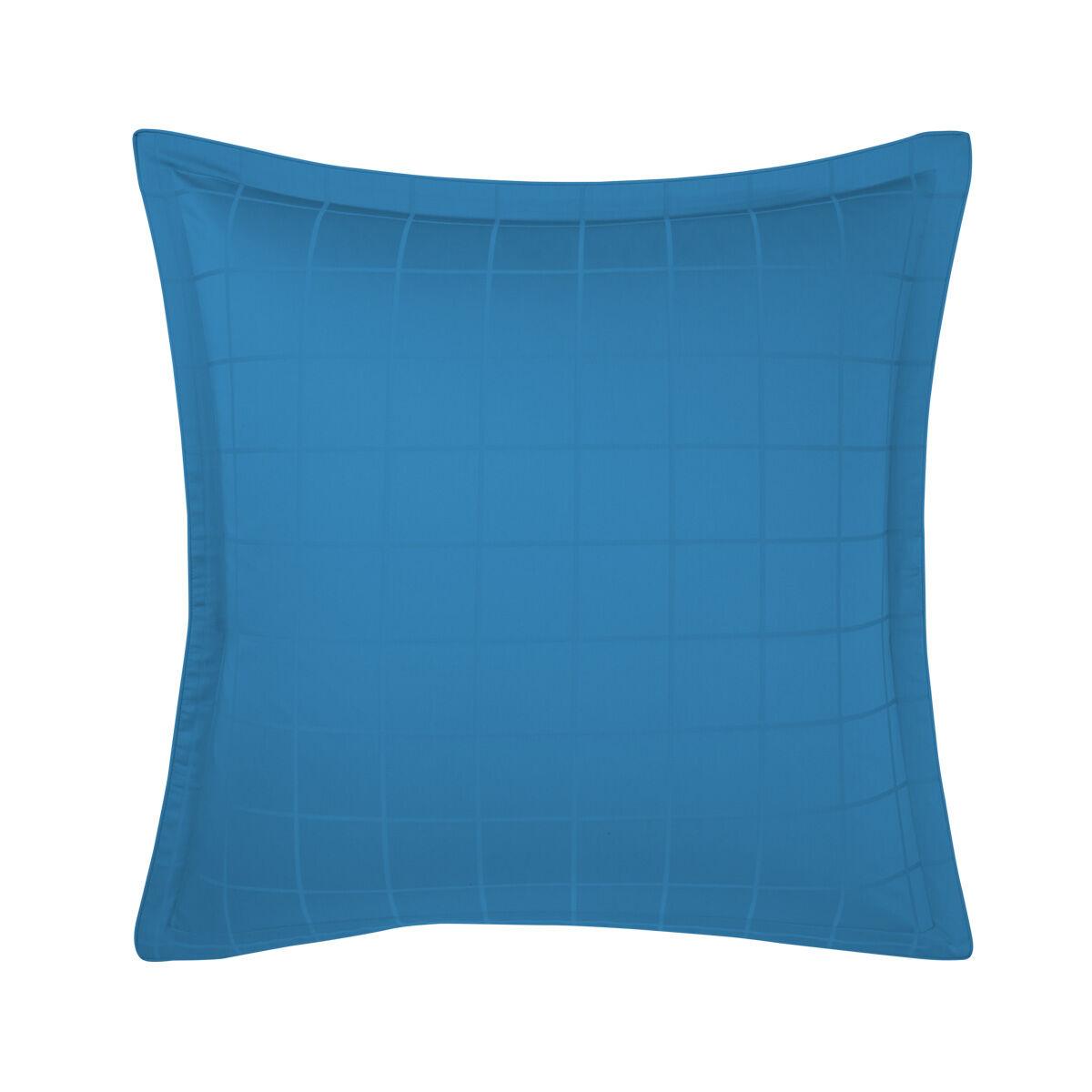 Olivier Desforges Taie d'oreiller satin Bleu 65 x 65 cm