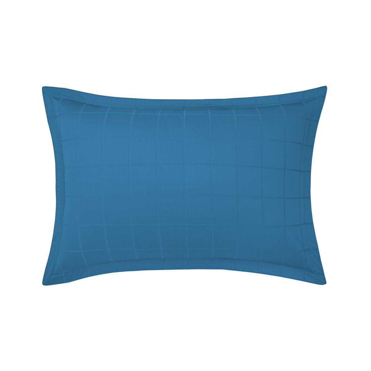Olivier Desforges Taie d'oreiller satin Bleu 50 x 75 cm
