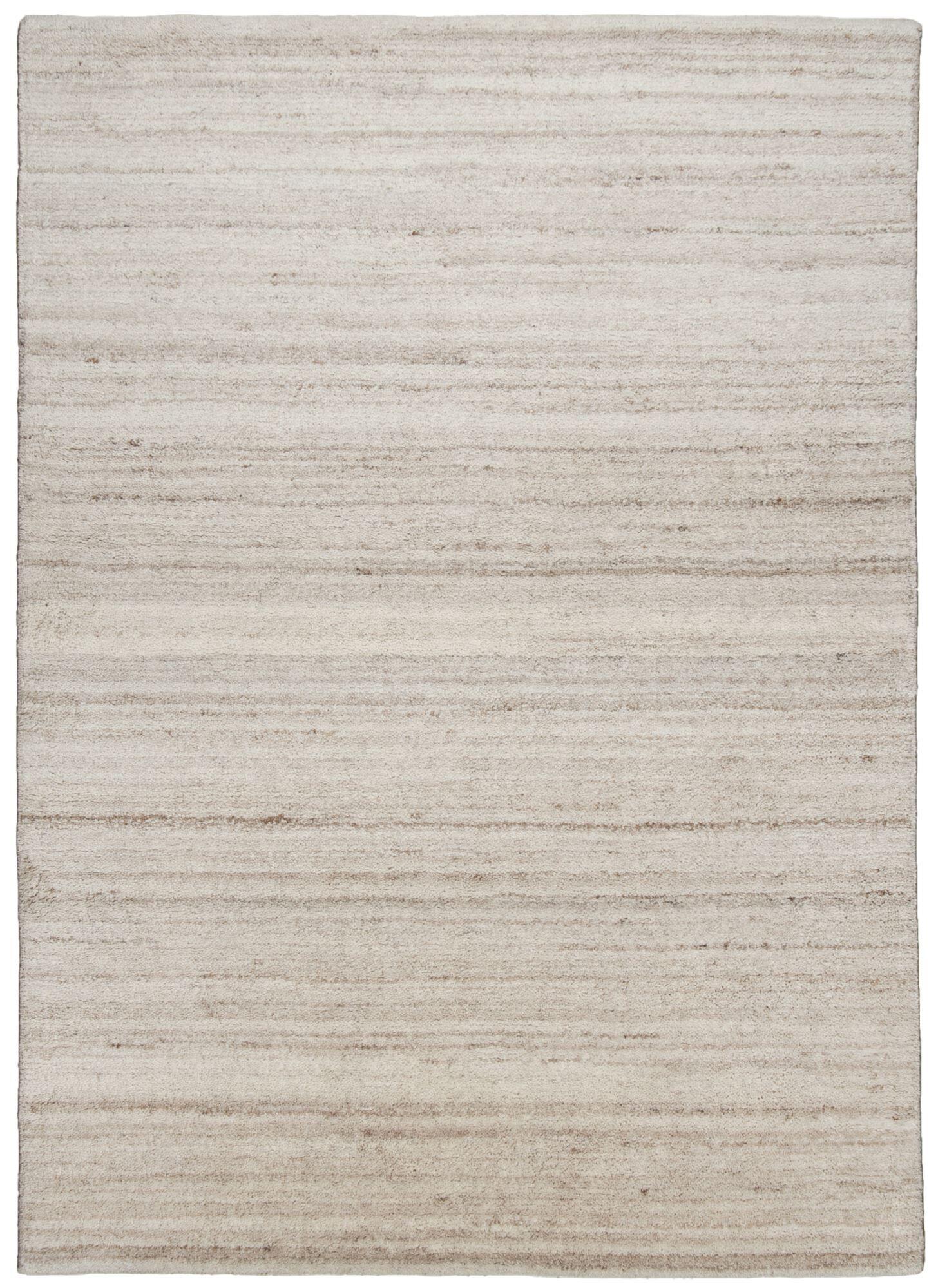 THEKO Tapis Berber en laine naturelle fait  la main Melange 140x200