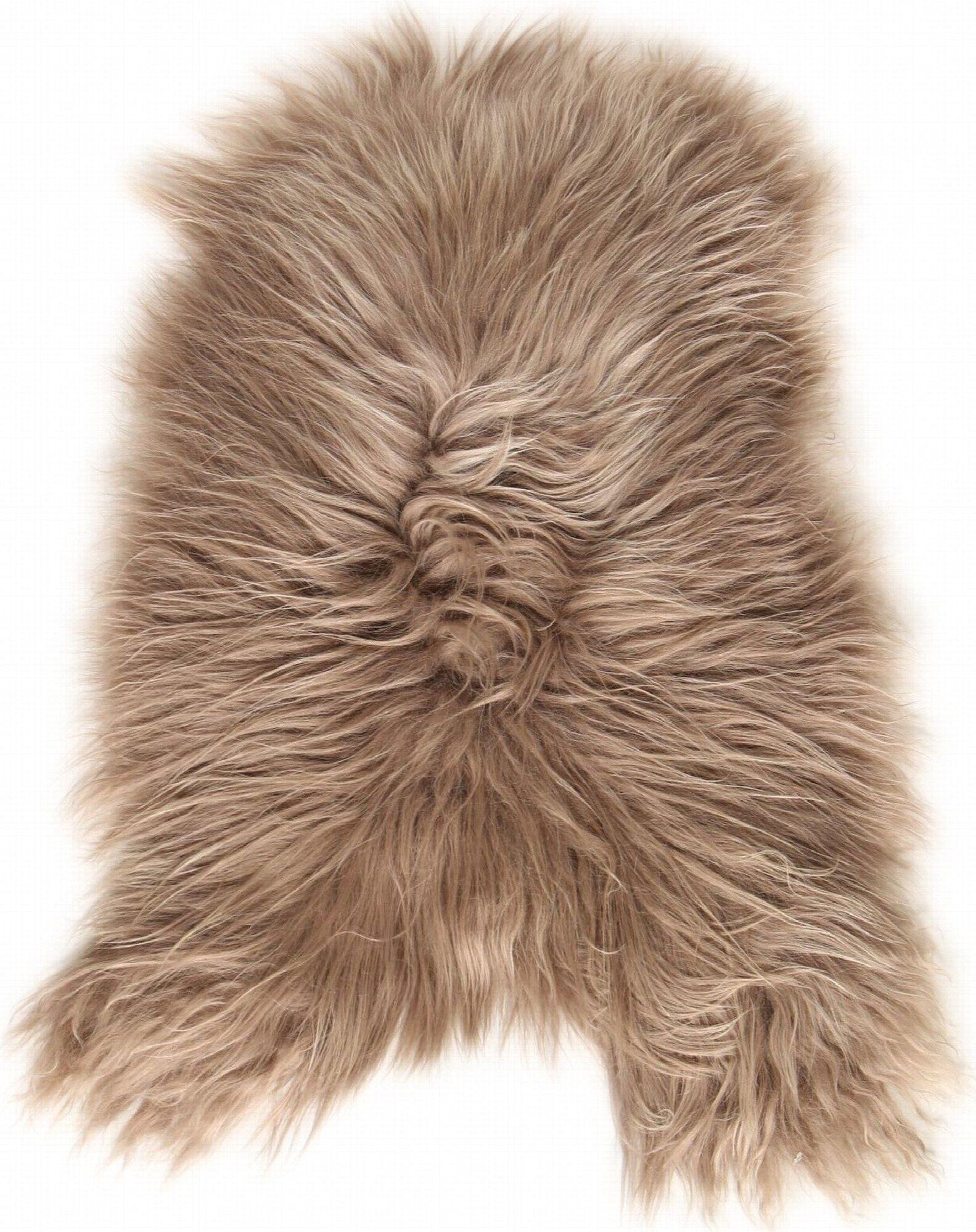 Esbeco Descente de lit peau de mouton marron 90x60