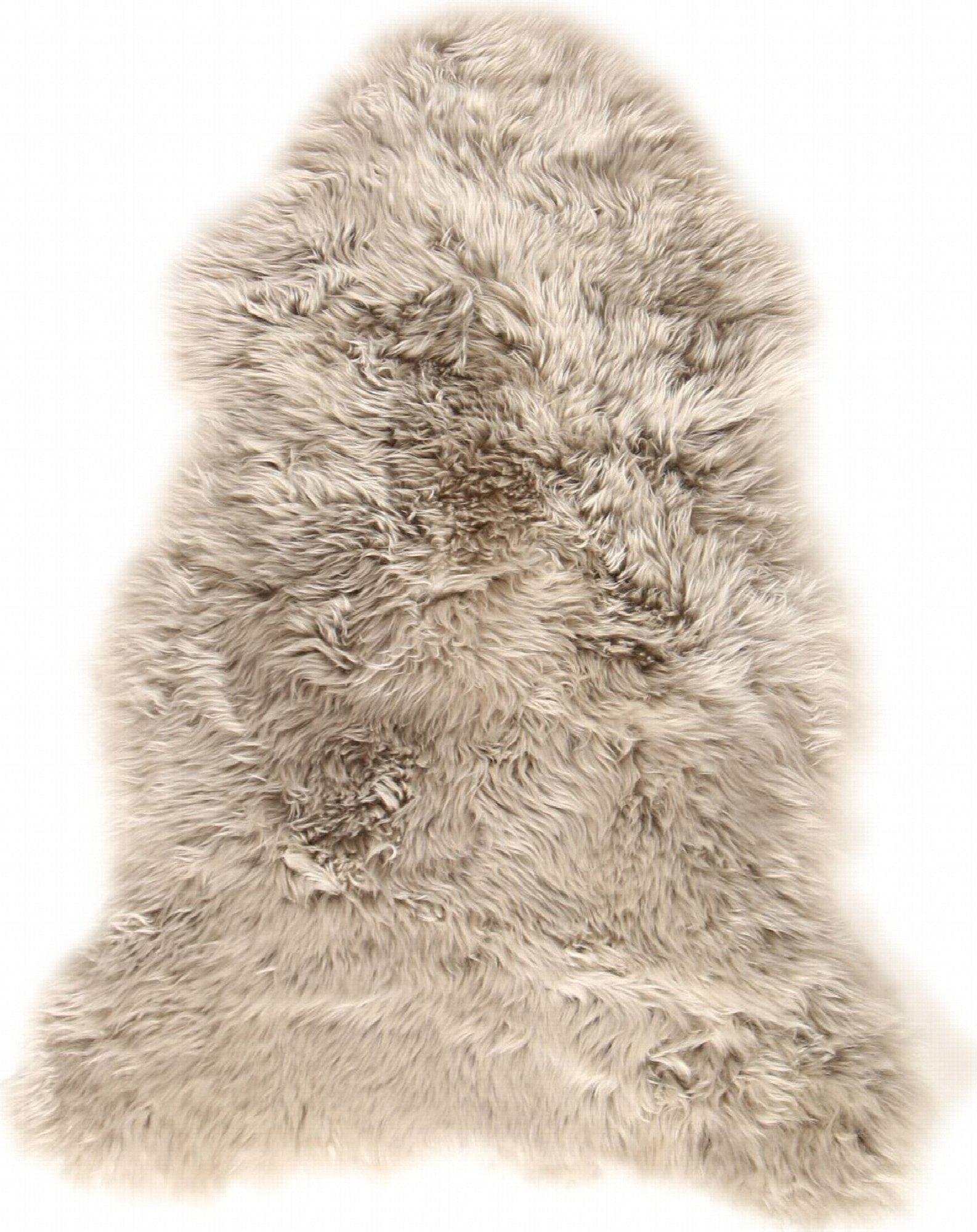 Esbeco Descente de lit peau de mouton marron 100x70