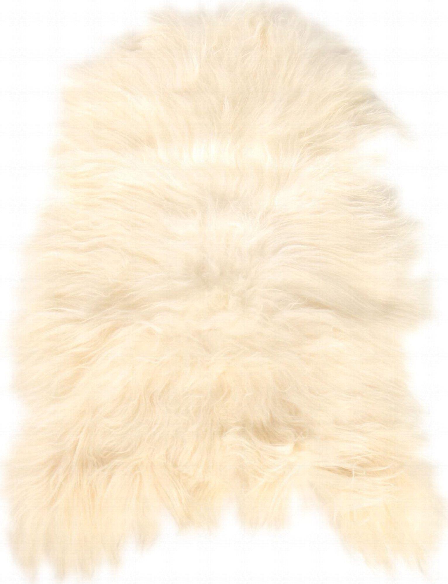 Esbeco Descente de lit peau de mouton blanc 90x60