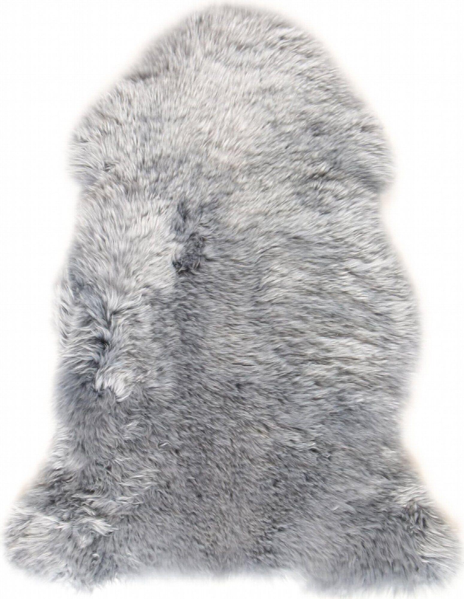 Esbeco Descente de lit peau de mouton gris 100x70