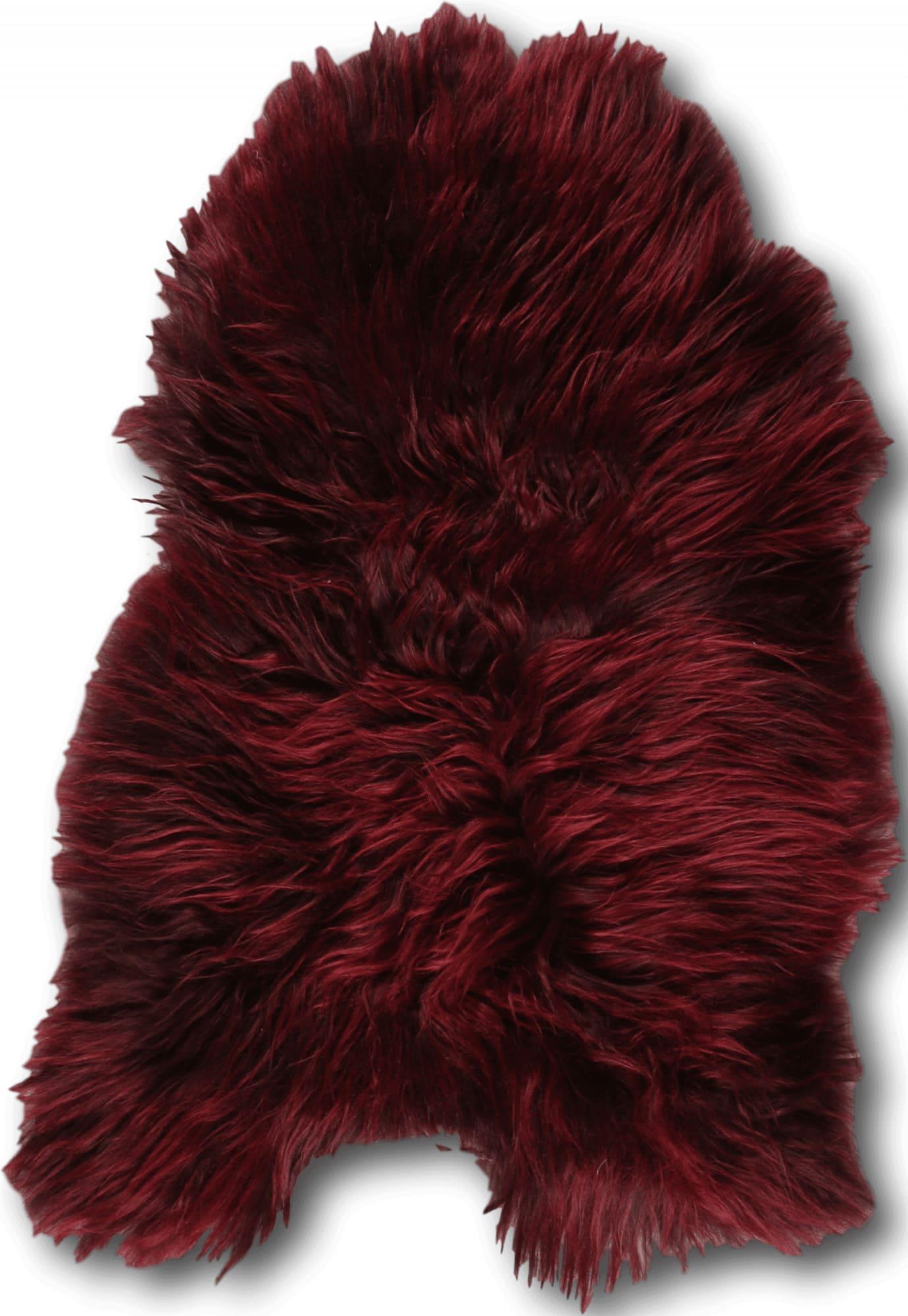 Esbeco Descente de lit peau de mouton rouge 90x60