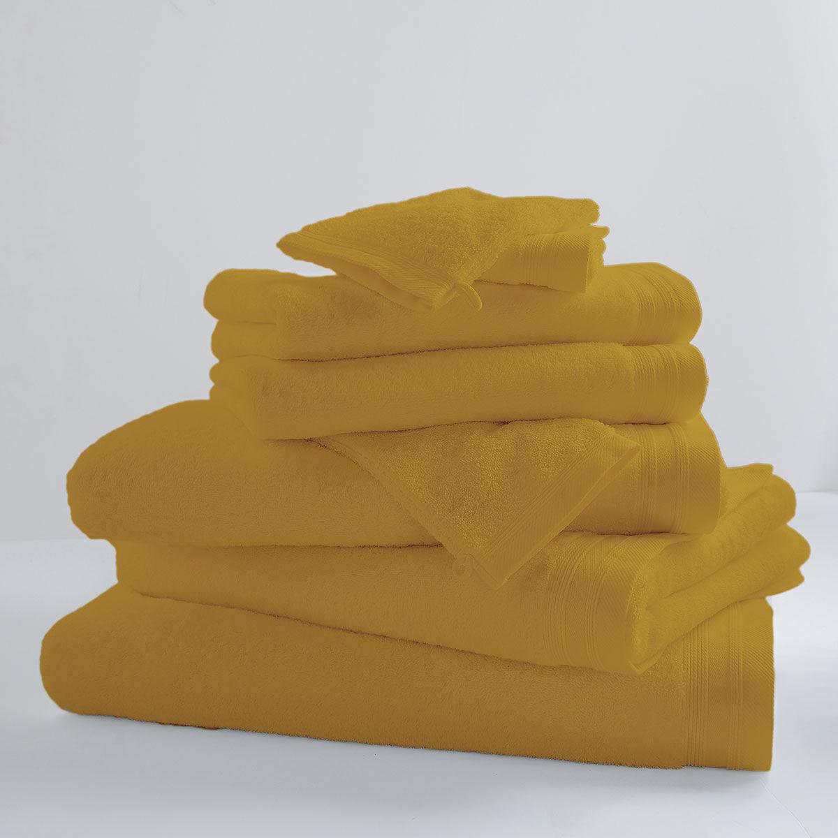 Home Bain Drap de bain uni et coloré coton banane 150x100