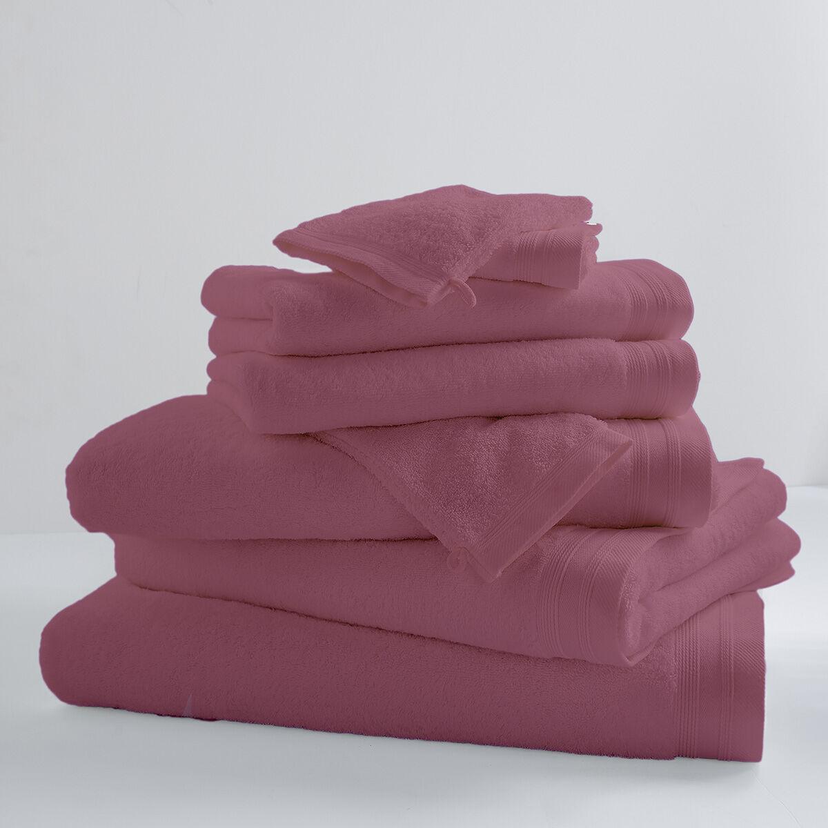 Home Bain Drap de bain uni et coloré coton rose 150x100