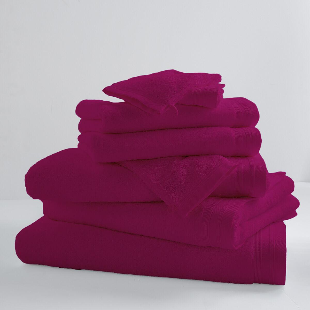 Home Bain Drap de bain uni et coloré coton sorbet 150x100