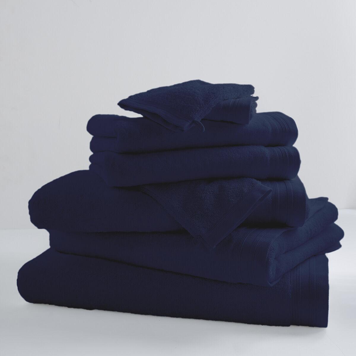 Home Bain Drap de bain uni et coloré coton blue moon 150x100