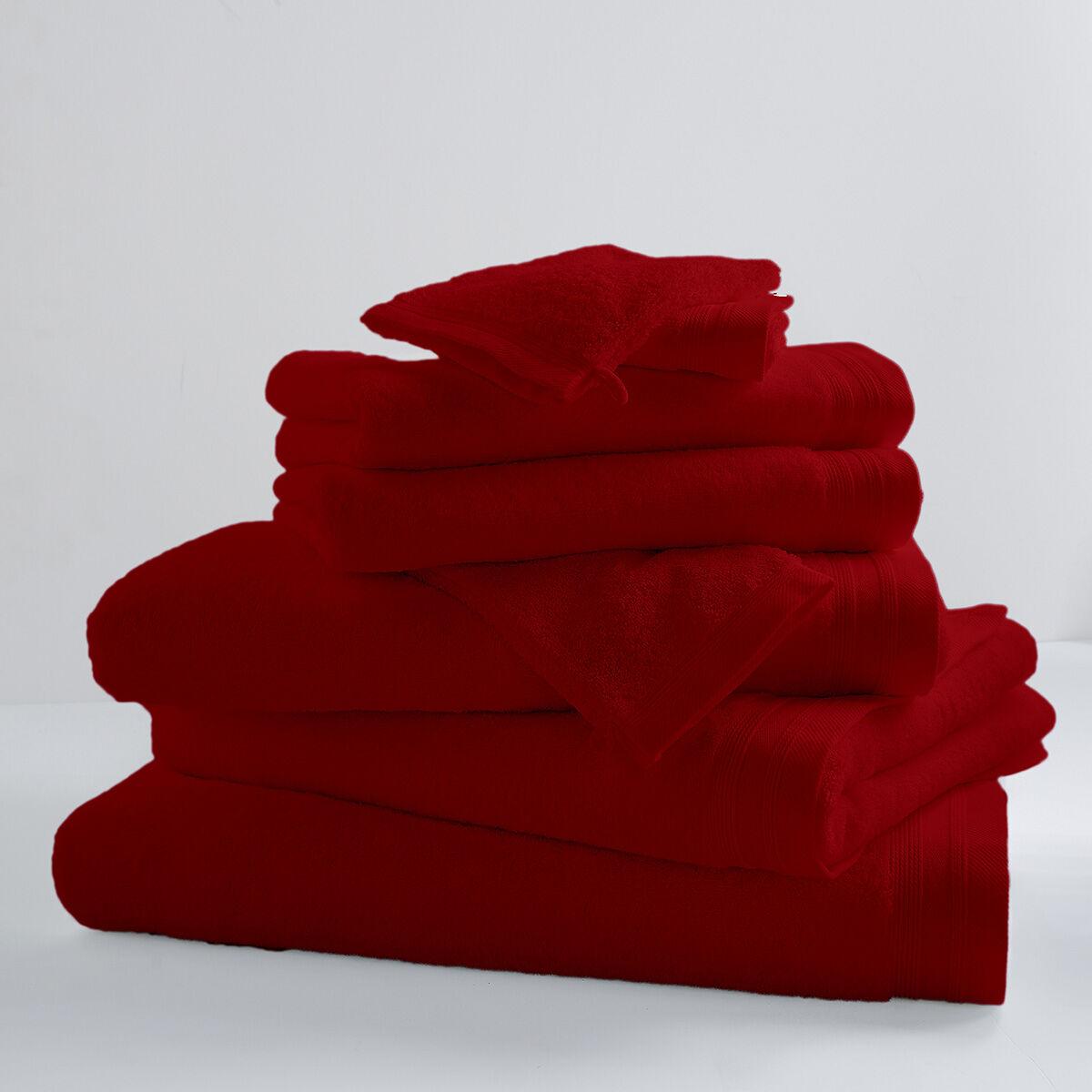 Home Bain Drap de bain uni et coloré coton griotte 150x100