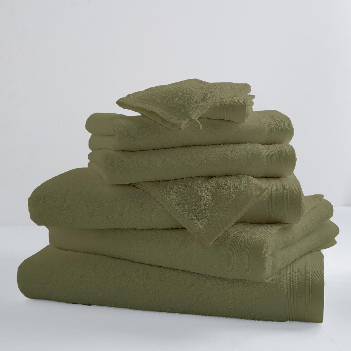 Home Bain Drap de bain uni et coloré coton vert tilleul 150x100