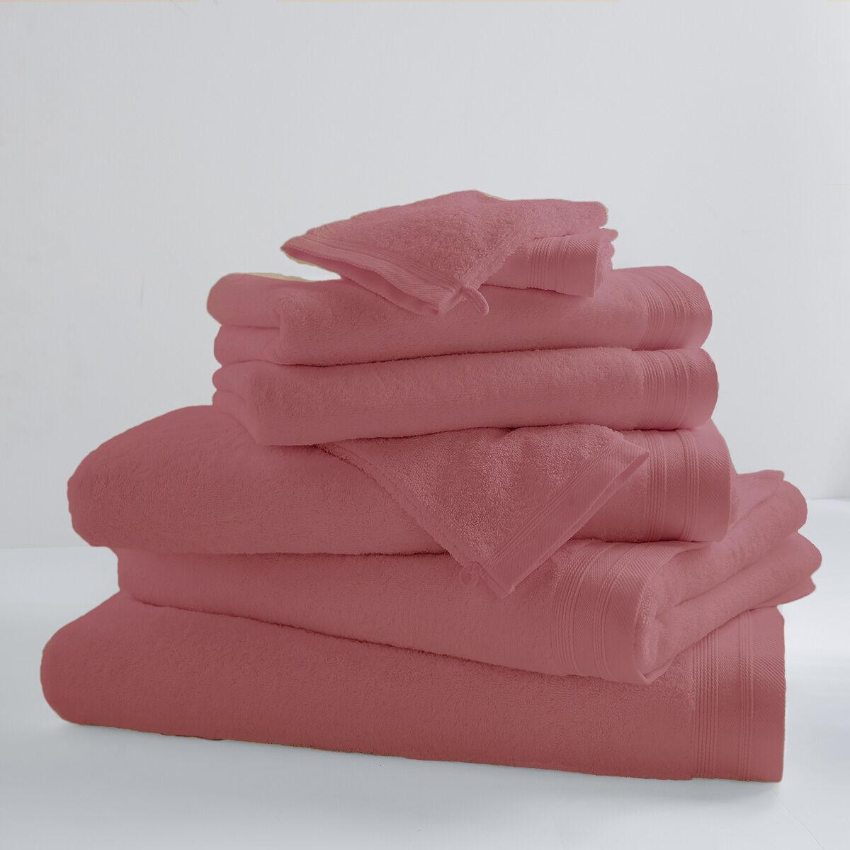 Home Bain Drap de bain uni et coloré coton guimauve 150x100