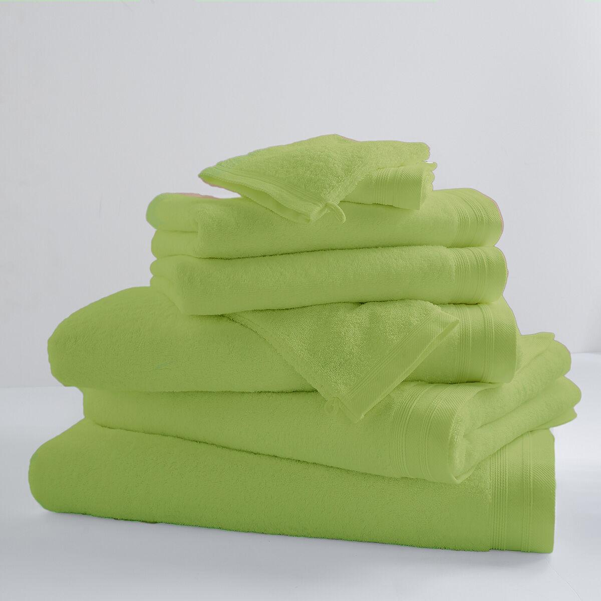 Home Bain Drap de bain uni et coloré coton mojito 150x100