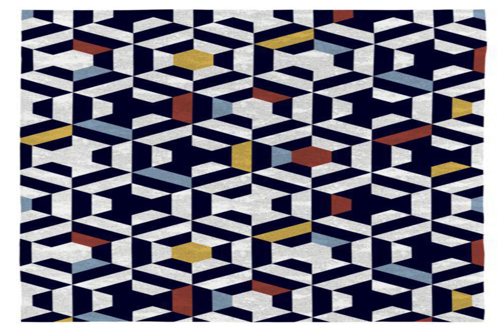 Rodier Tapis décoratif en coton en impression numérique 120x170
