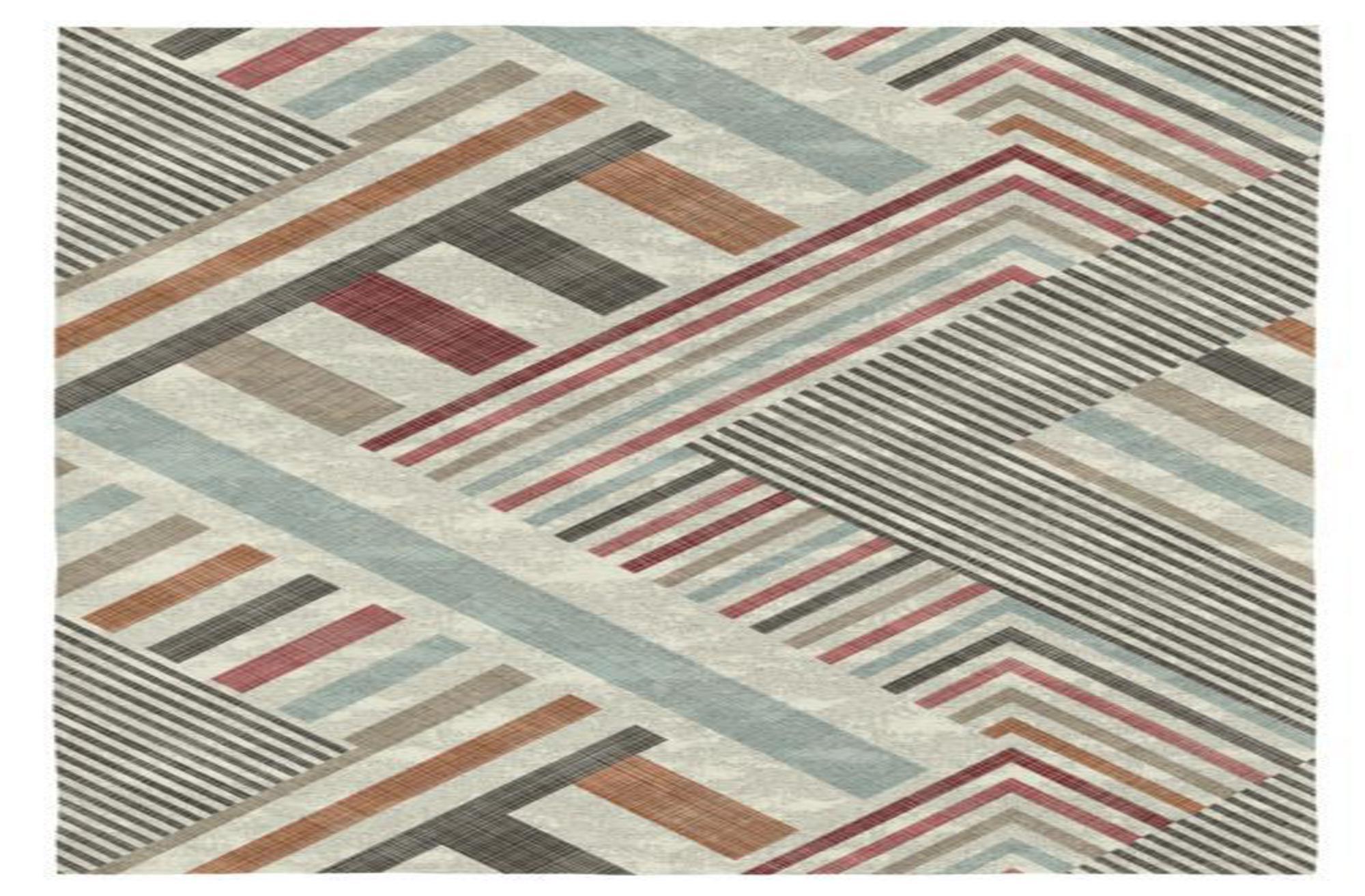 Rodier Tapis décoratif en coton en impression numérique 200x290