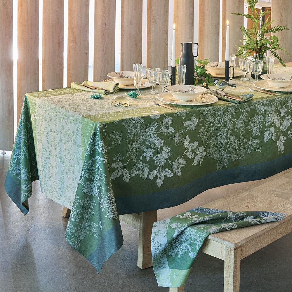 Garnier Thiebaut Nappe carrée  pur coton  180x180