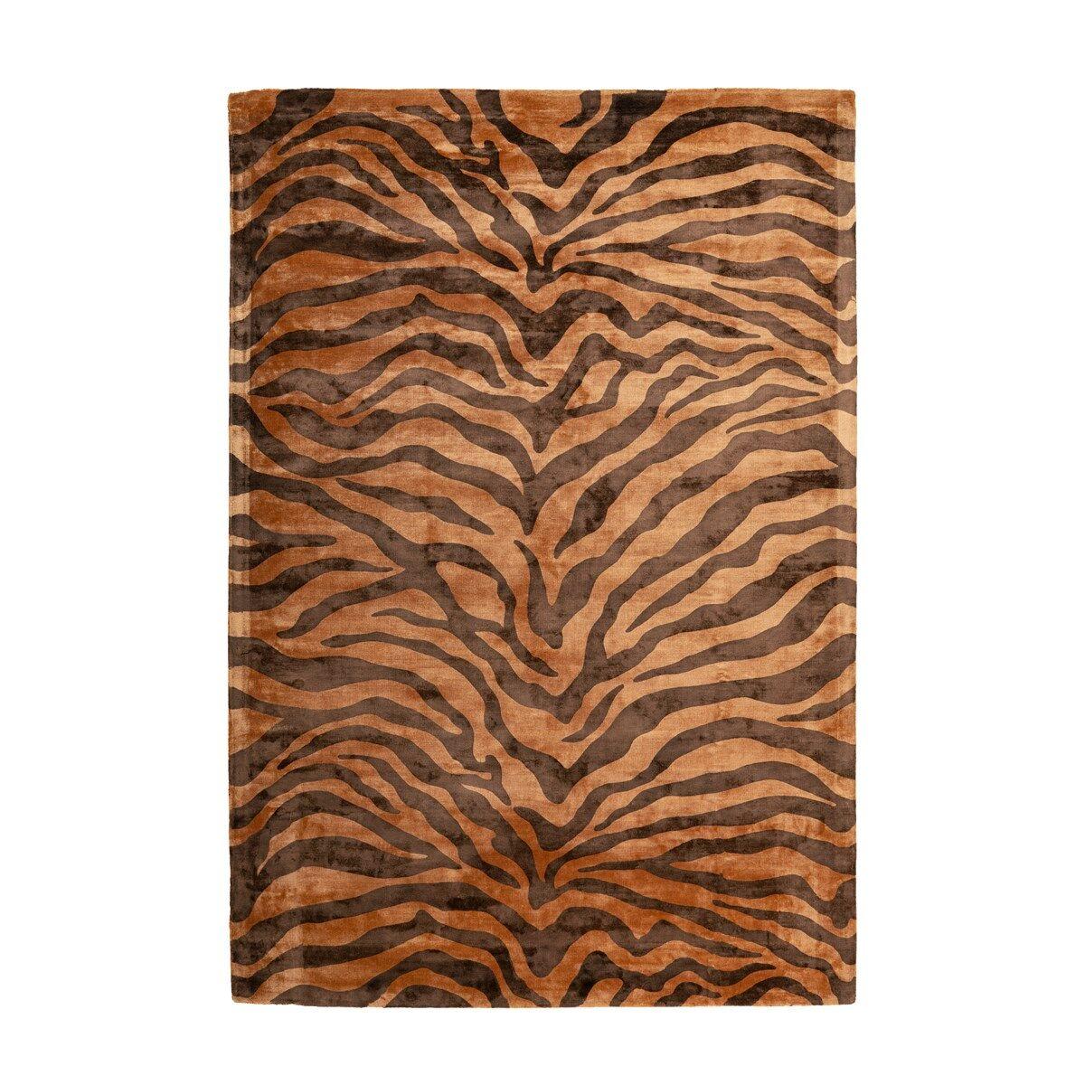 Novatrend Tapis moderne fait main en Viscose Marron 80x150 cm