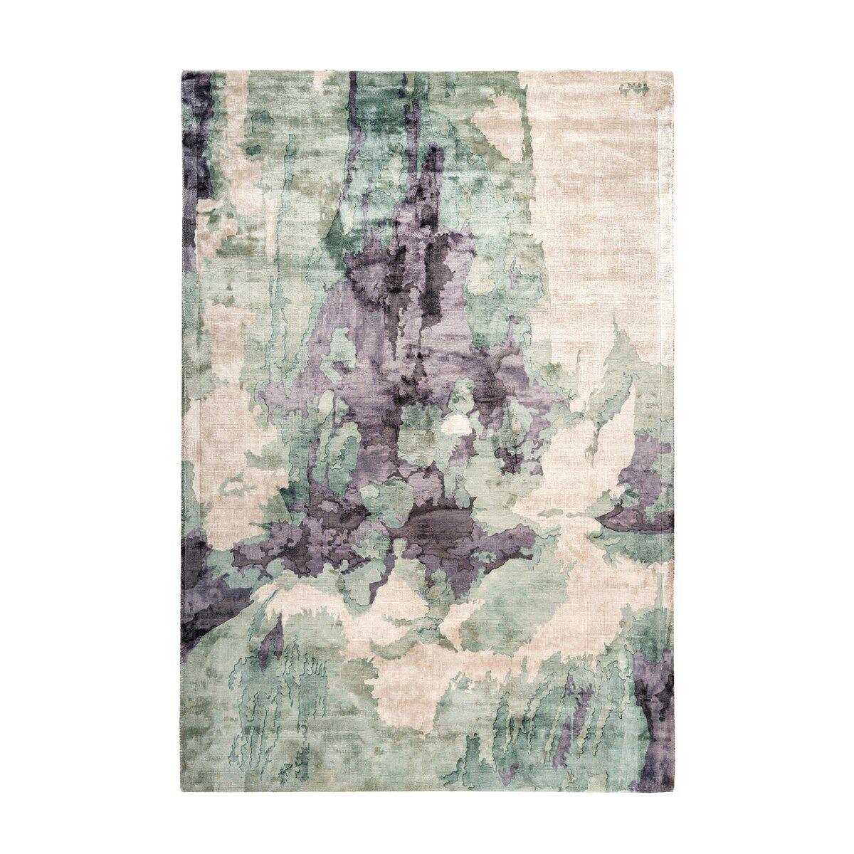 Novatrend Tapis moderne fait main en Viscose Multicolore 80x150 cm