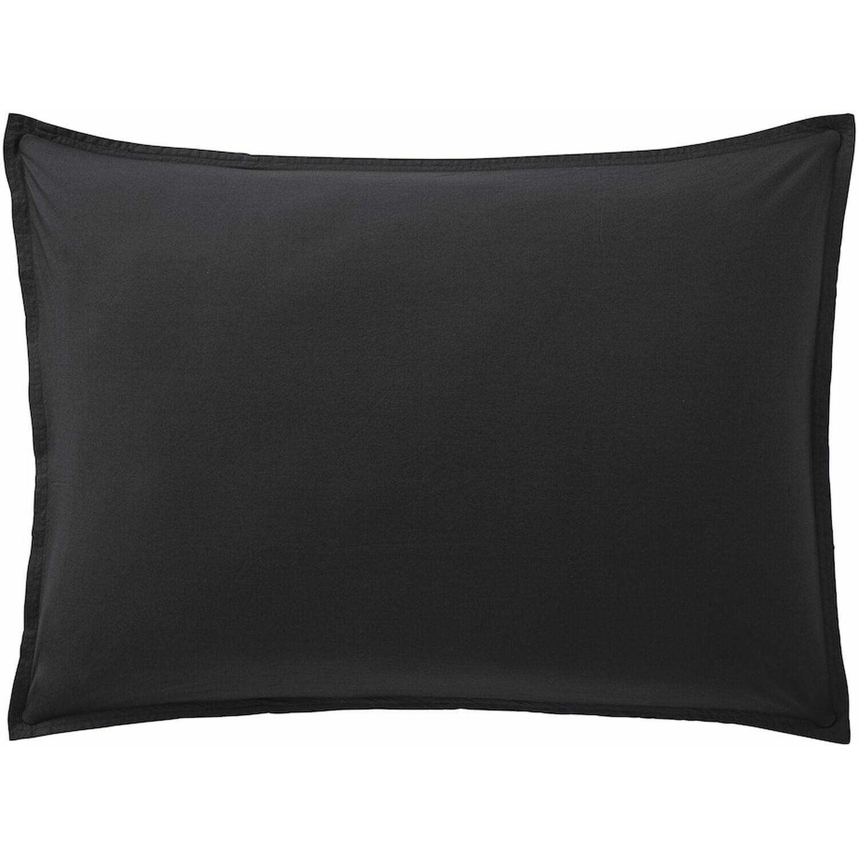 Baton Rouge Taie d'oreiller  coton noir 50x70 cm