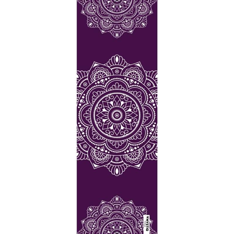 Mystiq Yoga Tapis de yoga voyage mandalign violet