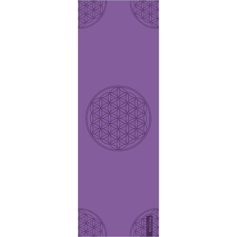 Mystiq Yoga Tapis de yoga start flower of life violet