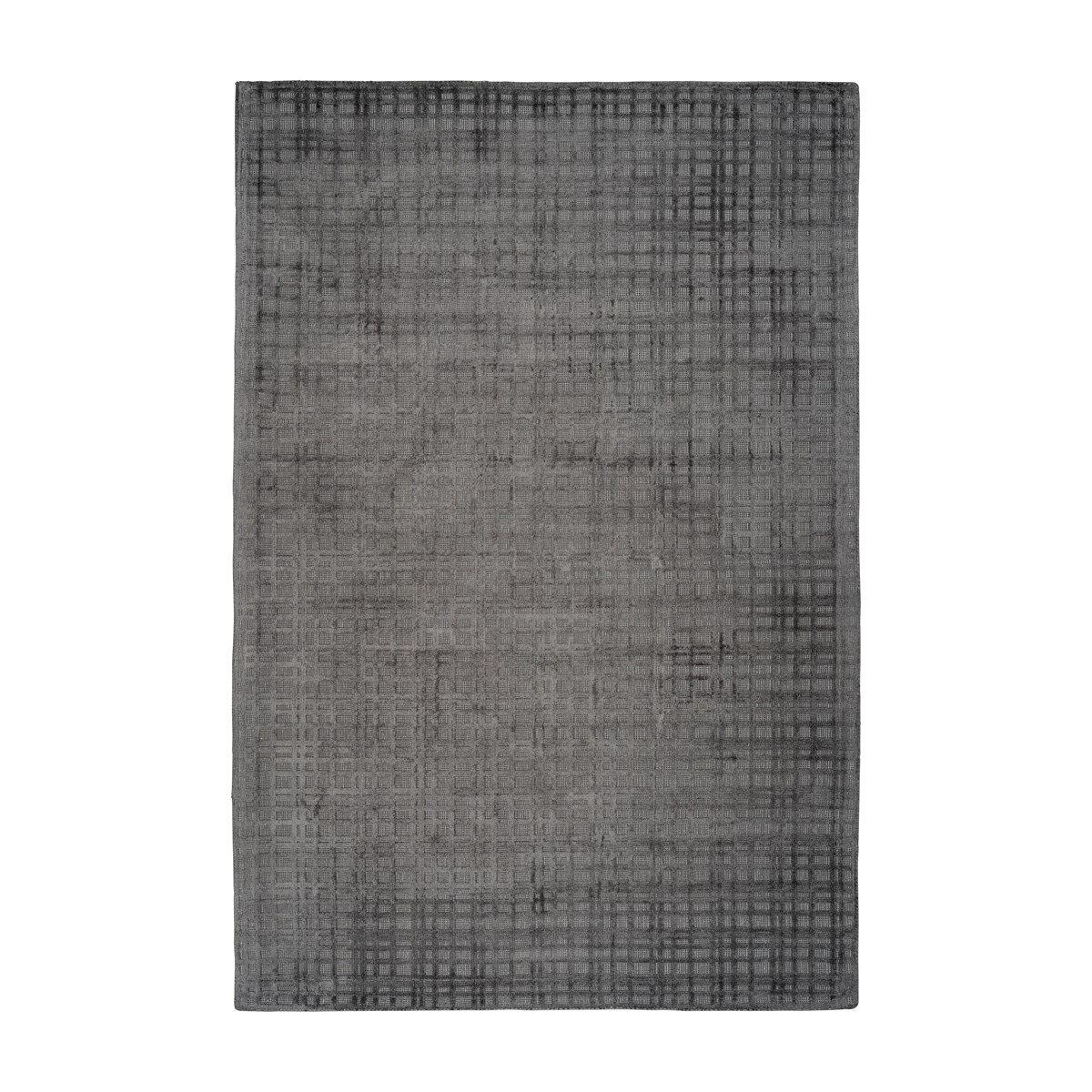 Novatrend Tapis moderne fait main en Viscose Gris anthracite 80x150 cm