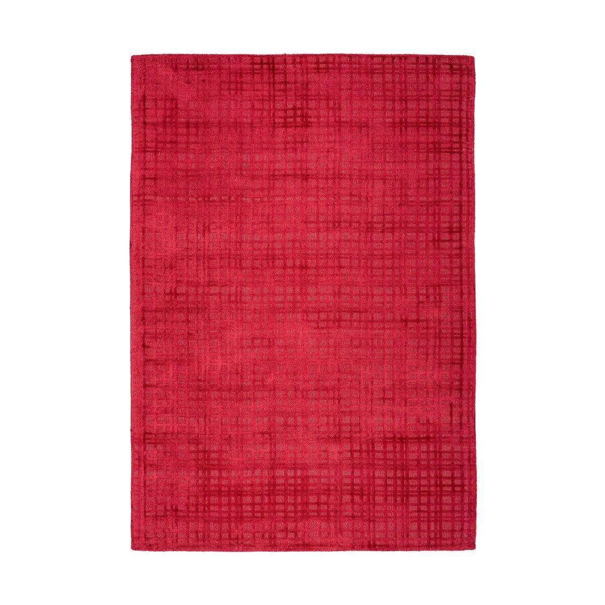 Novatrend Tapis moderne fait main en Viscose Rouge cerise 80x150 cm