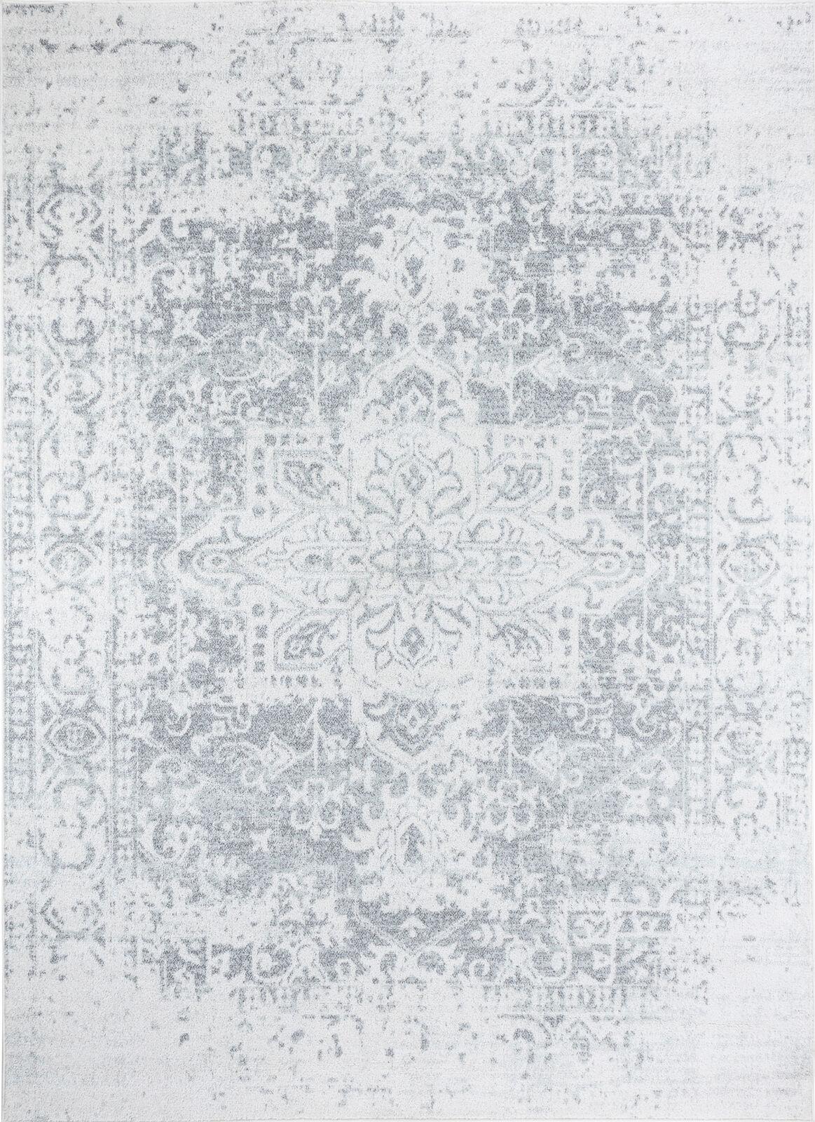 Surya Tapis de salon classique beige et gris 160x220