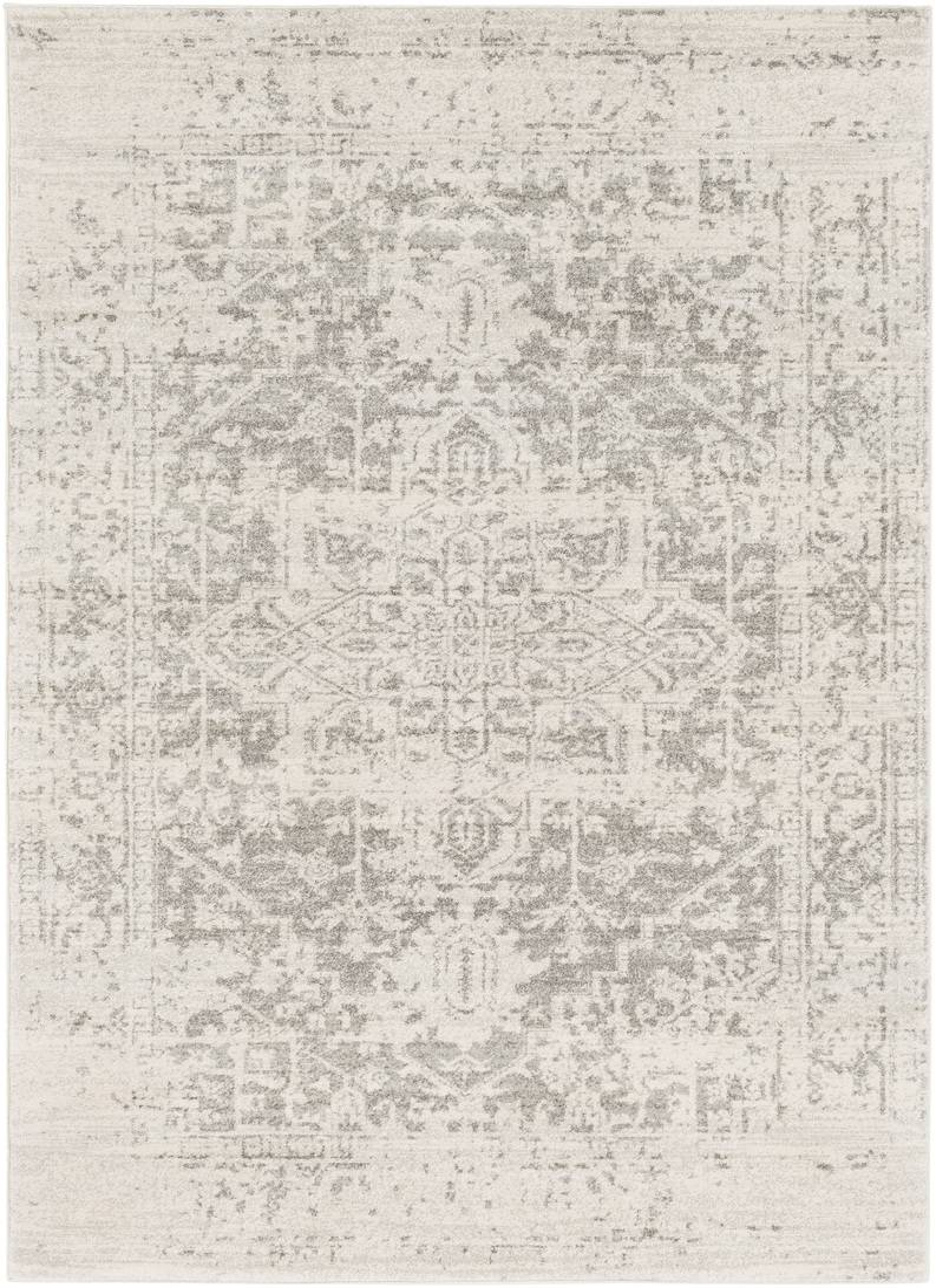 Surya Tapis de salon classique beige et gris 120x170
