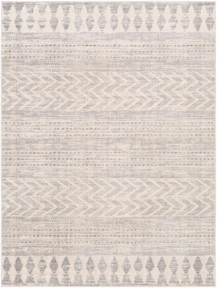Surya Tapis de salon contemporain blanc et gris 200x274