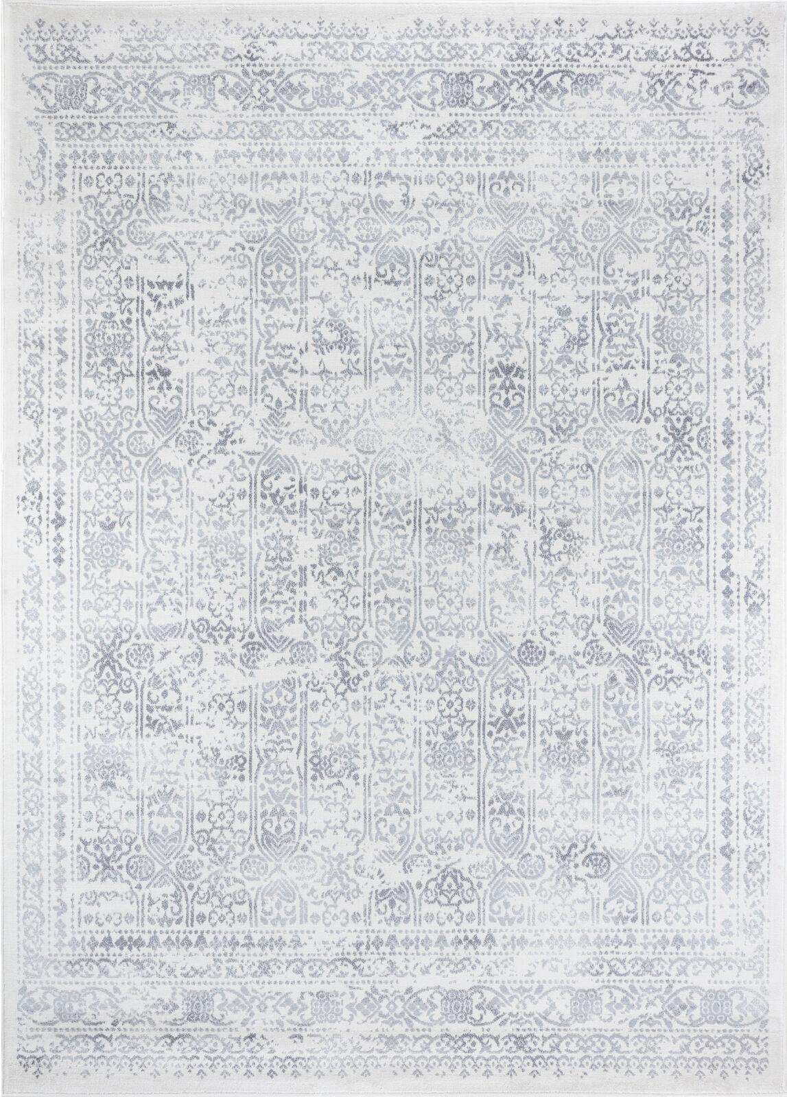 Surya Tapis de salon classique crme et gris 160x216