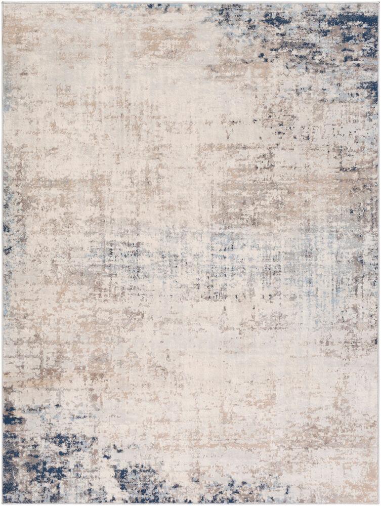 Surya Tapis de salon contemporain taupe et gris 160x216