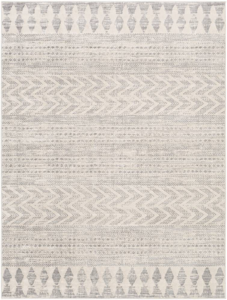 Surya Tapis de salon contemporain blanc et gris 160x216