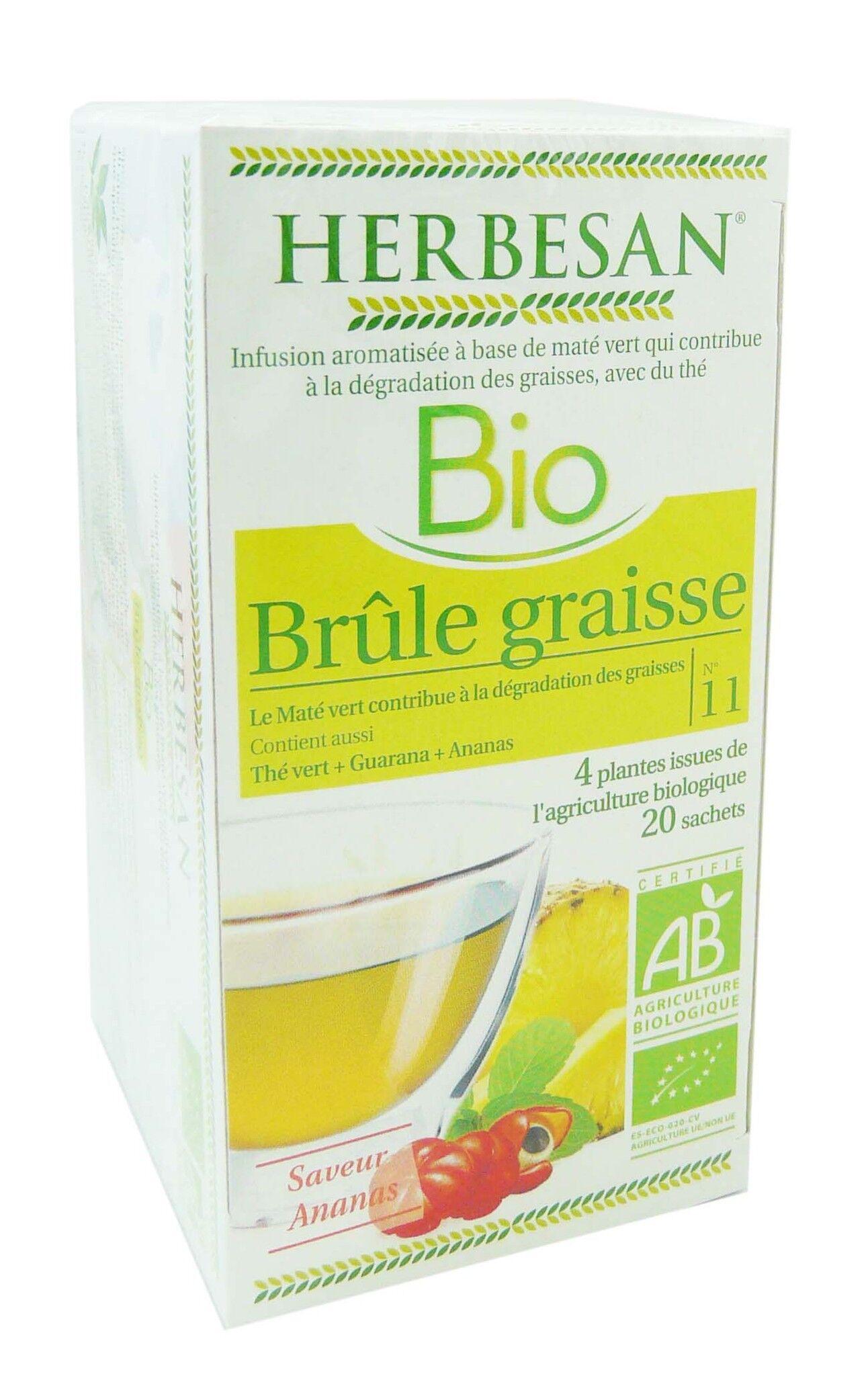 Herbesan infusion bio brule graisse 20 sachets