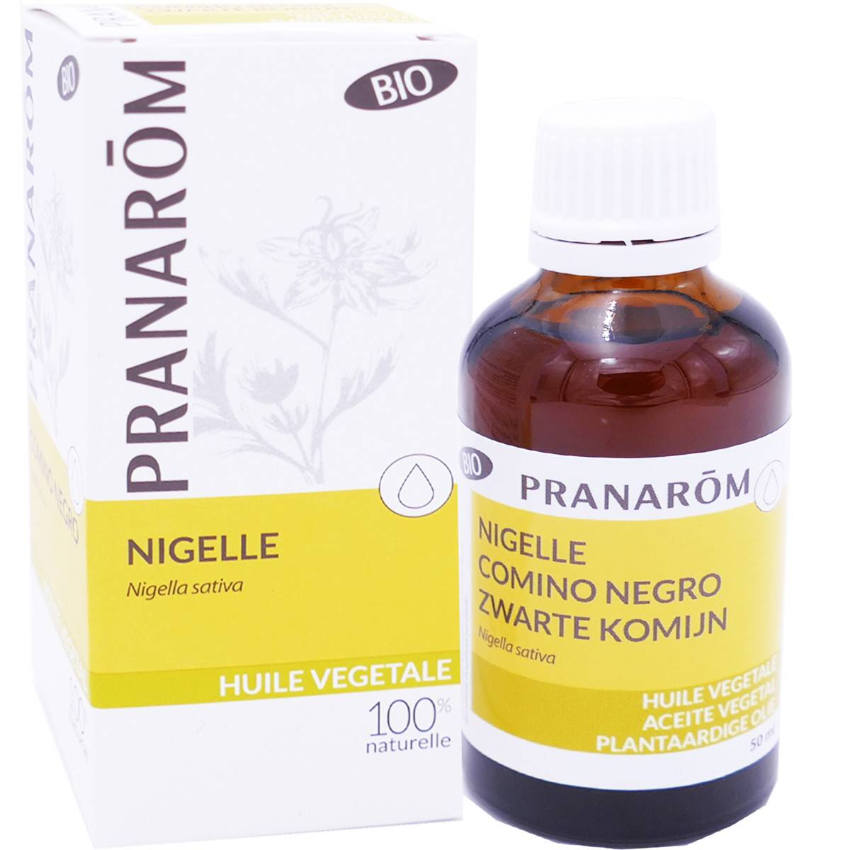 Pranarom huile vegetale bio nigelle 50 ml