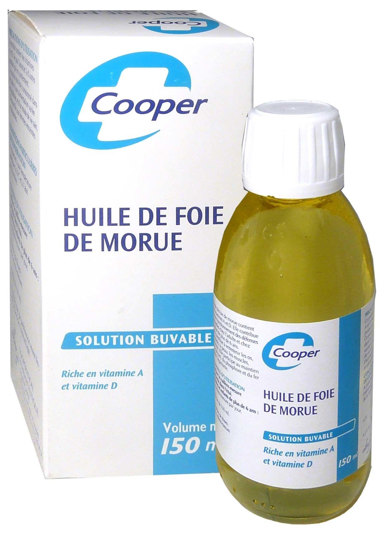 Cooper huile de foie de morue 150ml