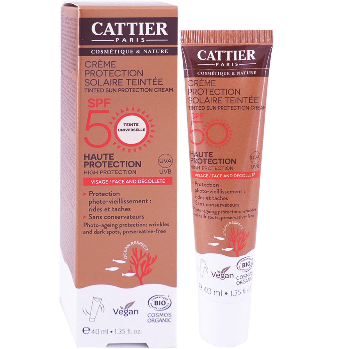 Cattier creme protection solaire teintee spf50 bio 40ml