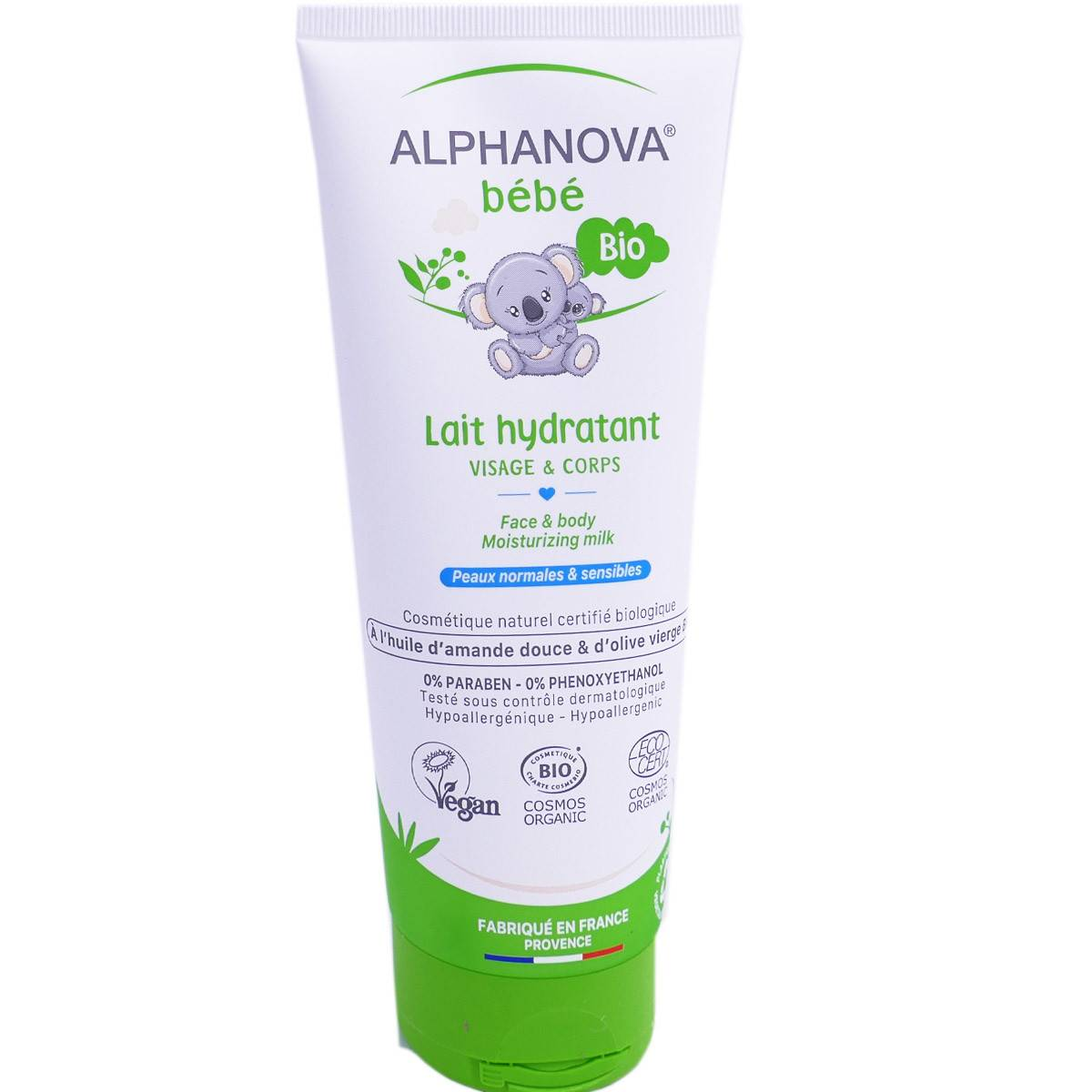 Alphanova bebe lait hydratant bio visage & corps 200ml