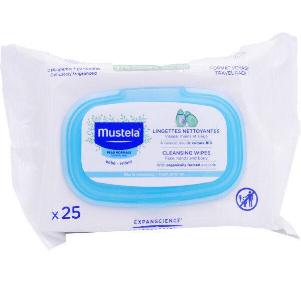 Mustela lingettes nettoyantes bio x25