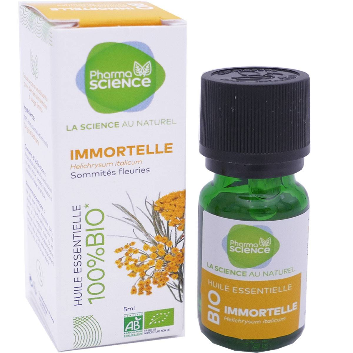 Pharmascience huile essentielle immortelle bio 5 ml