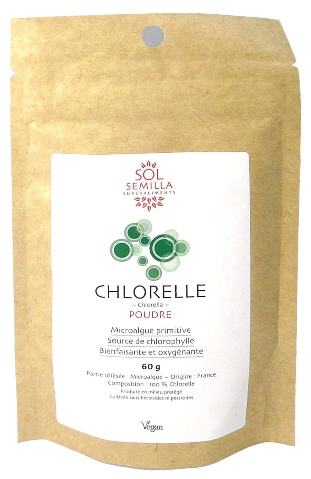 Sol semilla chlorelle poudre 60g