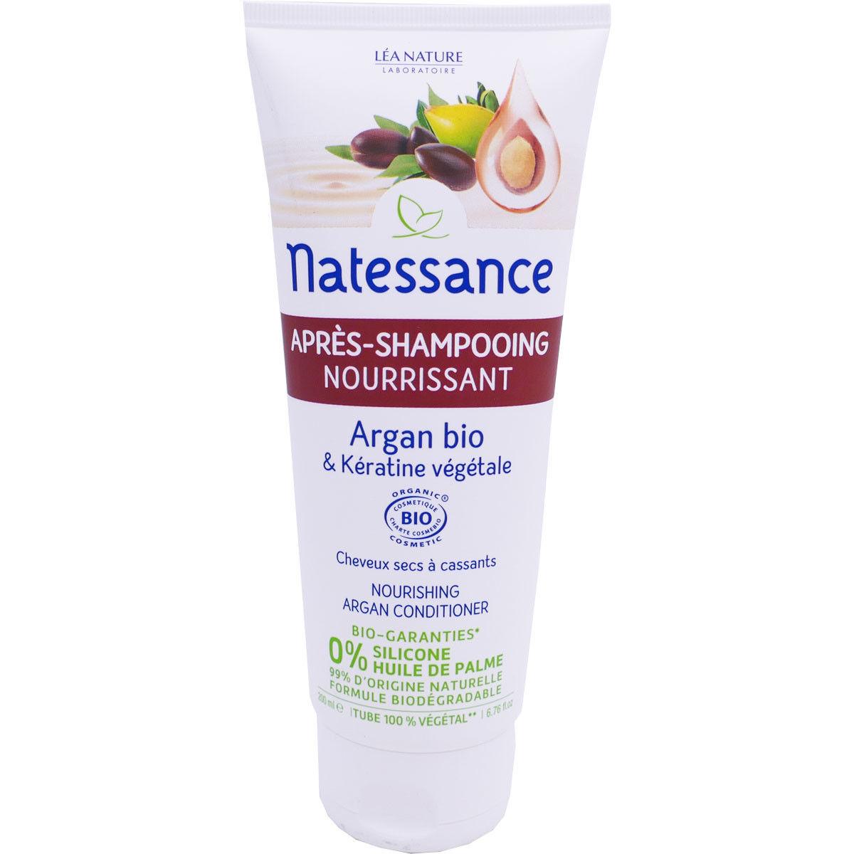 Natessance apres shampooing aragan bio 200ml