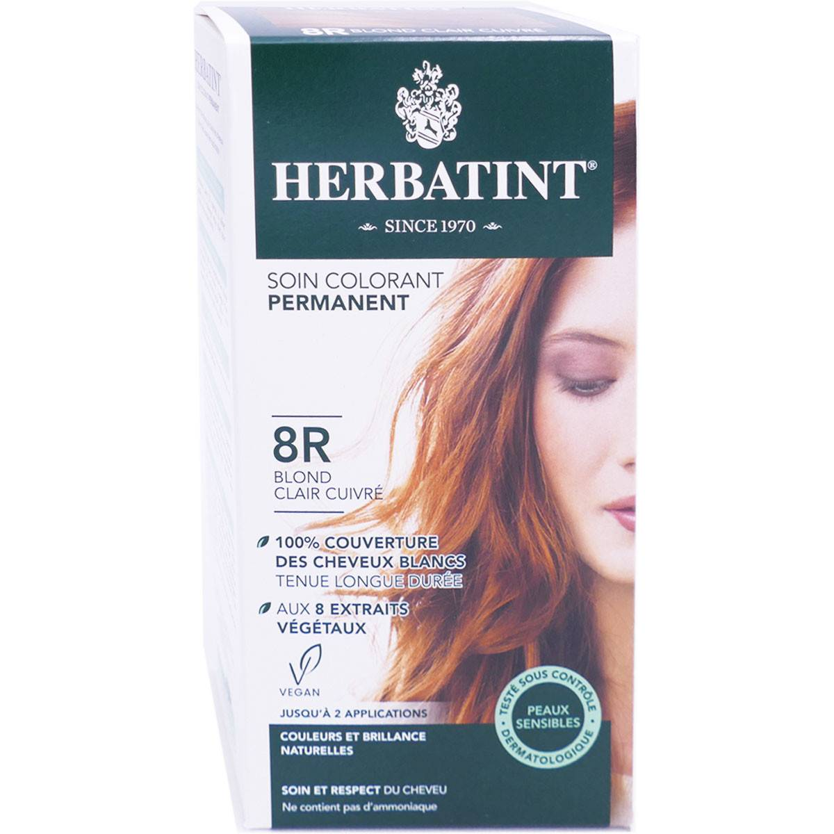 Herbatint soin colorant 8r blond clair cuivre 150ml