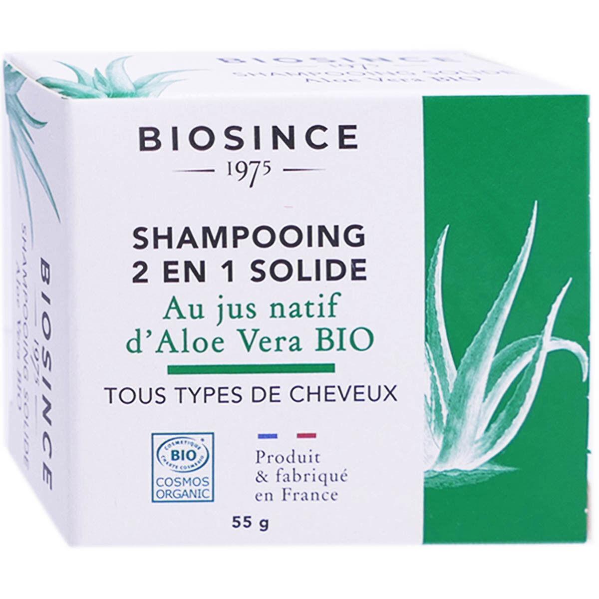 Biosince shampooing solide 2 en 1 bio 55g