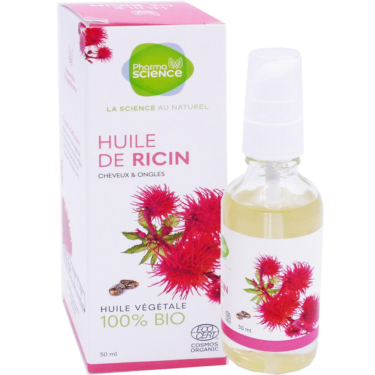 Pharmascience huile de ricin 50ml cheveux ongles