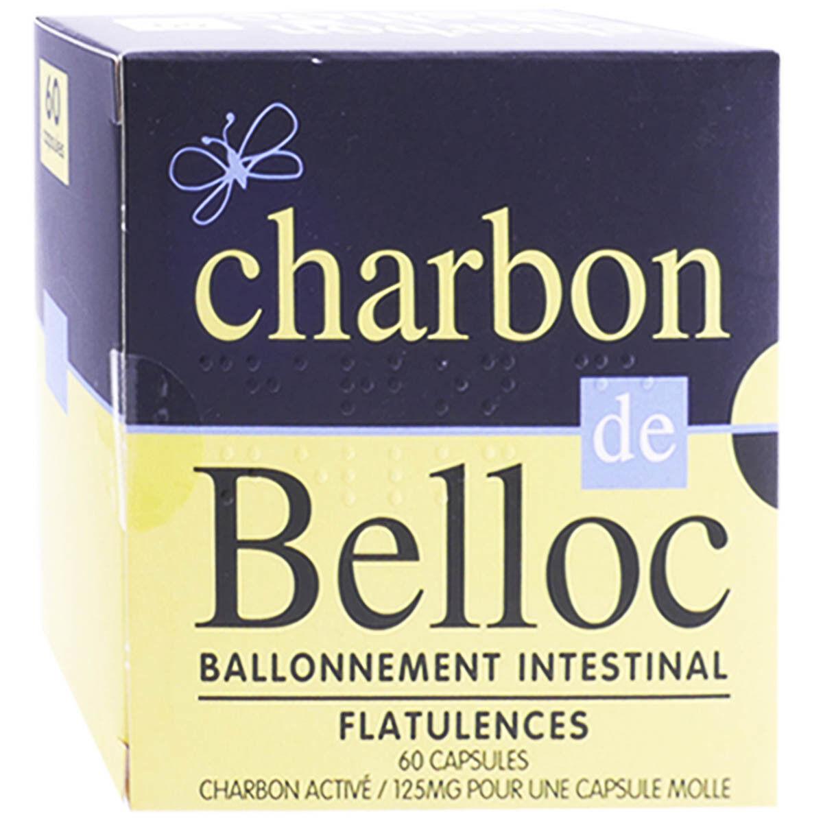 URGO Charbon de belloc ballonnement intestinal 60 capsules
