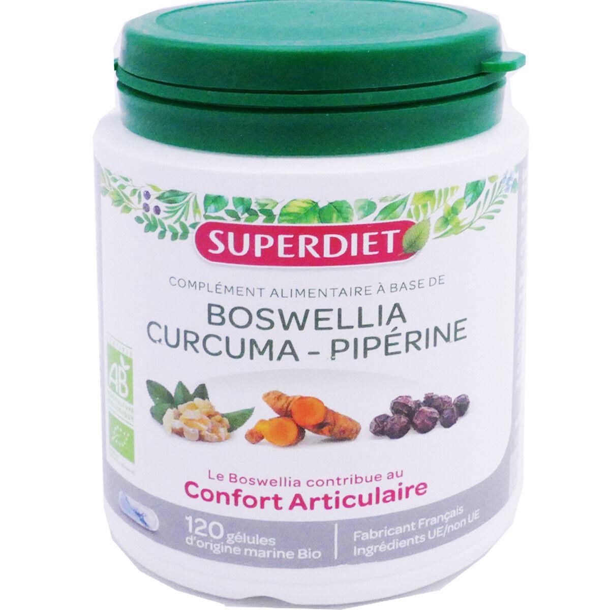 SUPER DIET Superdiet boswellia curcuma piperine articulation 120 gelules