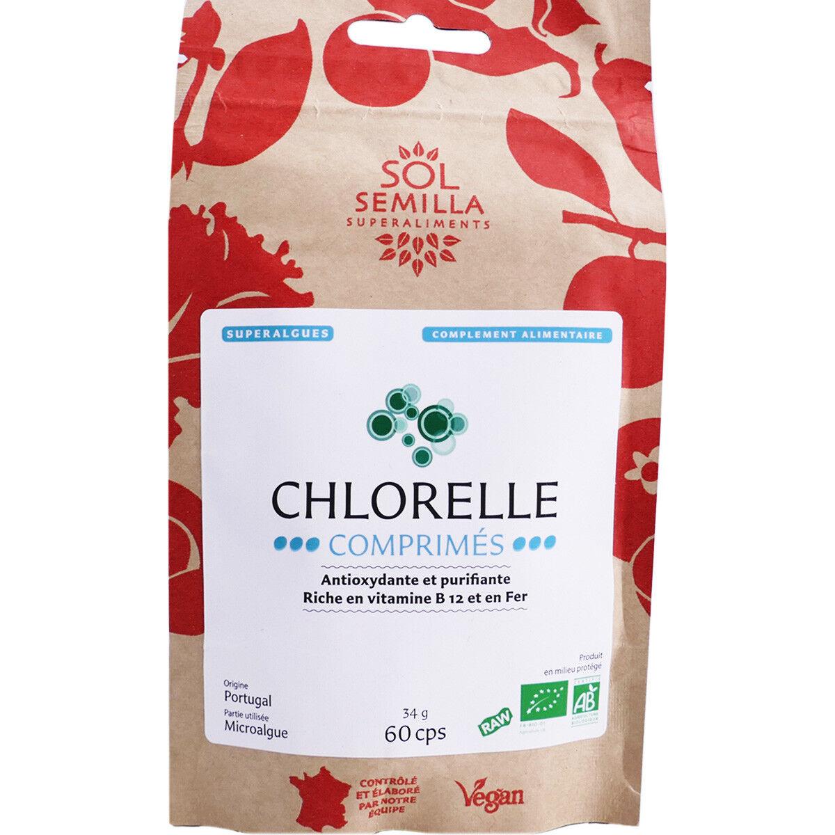 Sol semilla chlorelle bio 60 comprimes