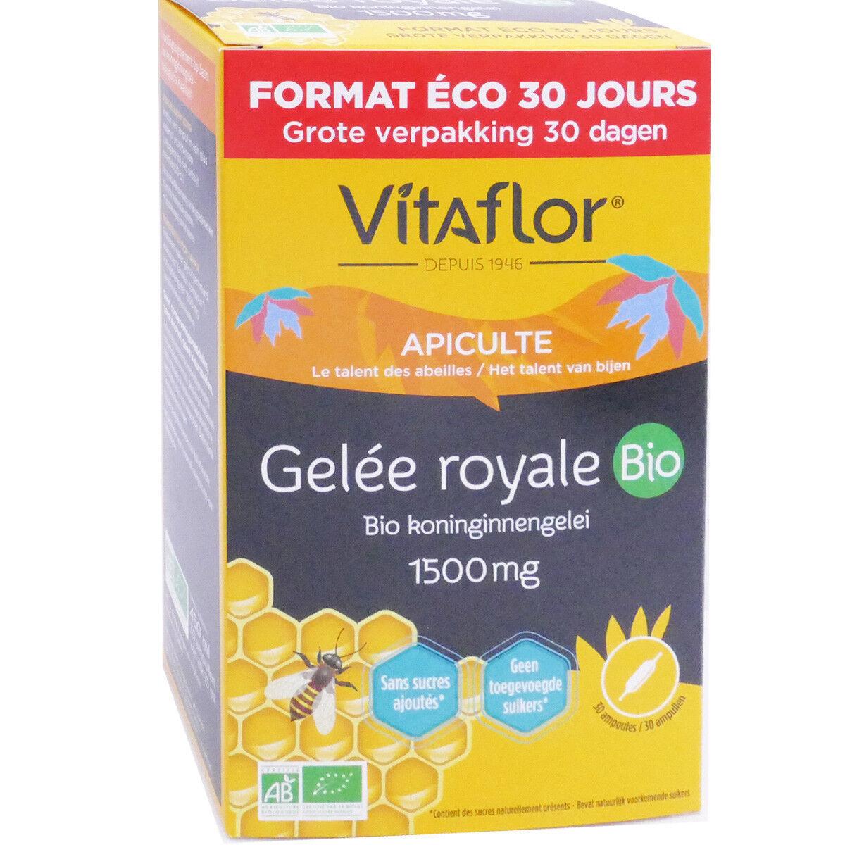 Vitaflor gelee royale bio 30 ampoules 1500mg